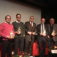 Von links nach rechts: Dr. Peter Hoffmann, Dr. Andreas Kestler, Dr. Steffen Landgraf, Klaus Emmerich und Dr. Armin Rüger. Fotorechte: Alexander Irmisch-Hergert